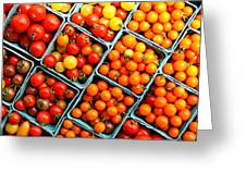 Market Fresh Tomatos Greeting Card