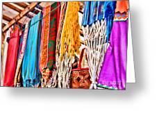 Market Hammocks In El Casco By Diana Sainz Greeting Card