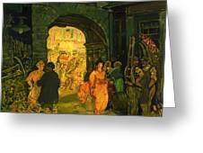 Market In Paris Greeting Card