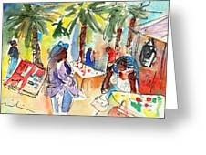 Market In Teguise In Lanzarote 03 Greeting Card