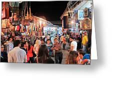 Market Life At Night 2 Greeting Card