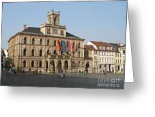 Market Place Weimar - Unesco Heritage Site Greeting Card