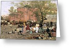 Market Plaza Greeting Card