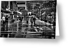 Market Square In The Rain - Knoxville Tennessee Greeting Card