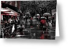 Market Square Shoppers - Knoxville Tennessee Greeting Card