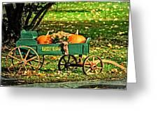 Market Wagon Greeting Card