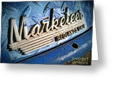 Marketeer Greeting Card by Pam Vick