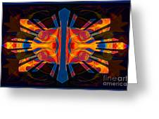 Marking Time Into Space Abstract Spiritual Artwork Greeting Card