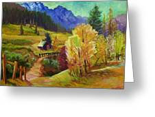 Markleeville Hillside Greeting Card