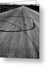 Marks In Our Road  Greeting Card