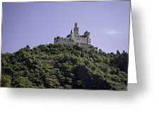 Marksburg Castle 16 Squared Greeting Card