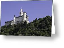 Marksburg Castle 24 Squared Greeting Card
