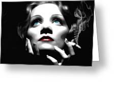 Marlene Dietrich Portrait Greeting Card