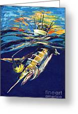 Marlin Catch Greeting Card