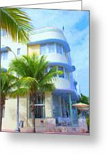 Marlin Hotel Side View Greeting Card
