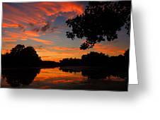 Marlu Lake At Sunset Greeting Card
