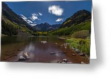 Maroon Bells At Night Greeting Card