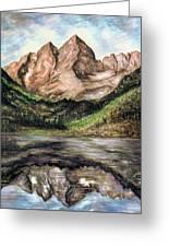 Maroon Bells Colorado - Landscape Greeting Card