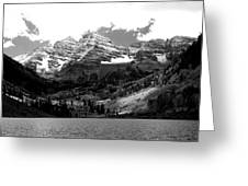 Maroon Bells In Black And White Greeting Card