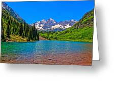 Maroon Bells In Color Greeting Card
