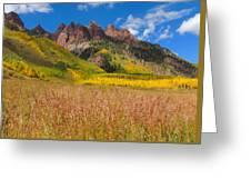 Maroon Bells In Full Color Greeting Card