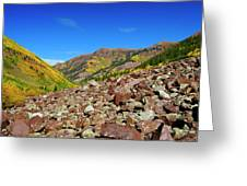Maroon Valley Greeting Card