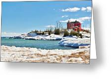 Marquette Harbor Light Station Greeting Card