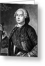 Marquis De Vaudreuil (1698-1778) Greeting Card