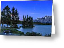 Mars Over Mt. Rundle Greeting Card