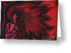 Mars Rising Greeting Card