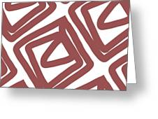 Marsala Envelopes- Abstract Pattern Greeting Card