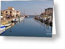 Marseillan Harbour Greeting Card