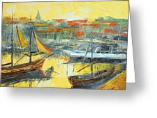 Marseille Harbour Greeting Card