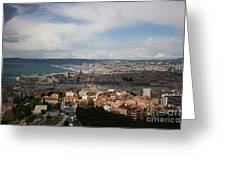 Marseille View From Cathedral Notre Dame De La Garde Greeting Card
