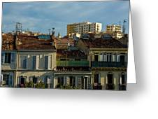 Marseilles Houses Greeting Card