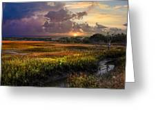 Marsh At Sunrise Greeting Card