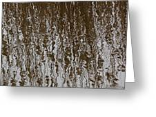 Marsh Grass Reflections Abstract 2 Greeting Card
