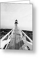 Marshall Point Approach - Black And White Greeting Card