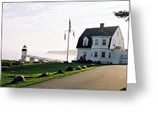 Marshall Point As Sunset Begins Greeting Card