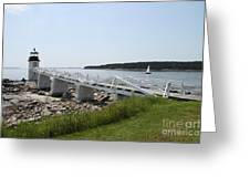 Marshall Point Light Station Greeting Card