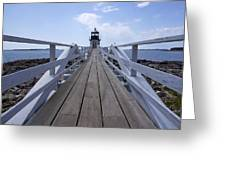 Marshall Point Lighthouse And Walkway Greeting Card