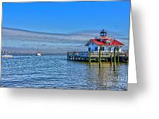 Marshes Lighthouse Greeting Card