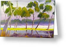 Marshlands Murray River Red River Gums Greeting Card