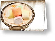 Marshmallow Peach Yogurt Parfait Greeting Card