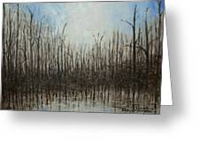 Marshy Parallels Greeting Card