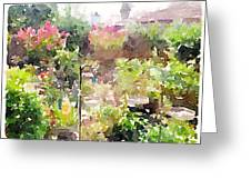 Martha's Garden Greeting Card
