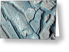 Martian Lake Sediments Greeting Card