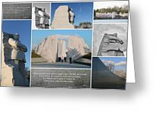 Martin Luther King Jr Memorial Collage 1 Greeting Card