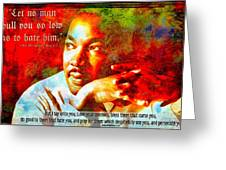 Martin Luther King Jr Greeting Card