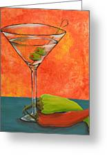 Martini And Pepper Greeting Card